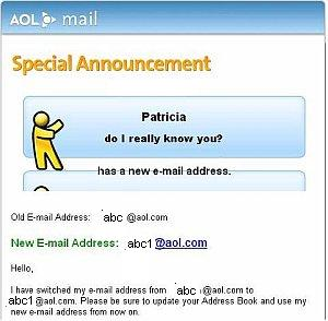 new email address graphic